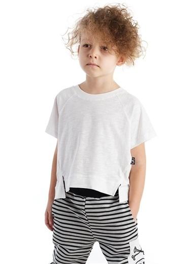 Colorinas Asimetric Comfy Tshirt Lacivert